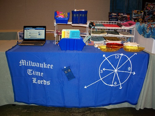 Milwaukee Time Lords Chicago TARDIS fan table